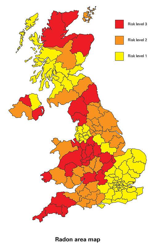Radon Area Map