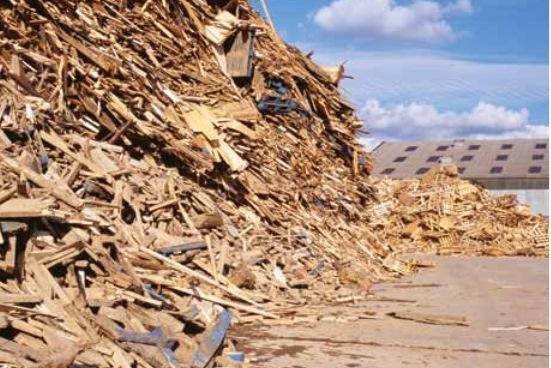 waste wood stock image